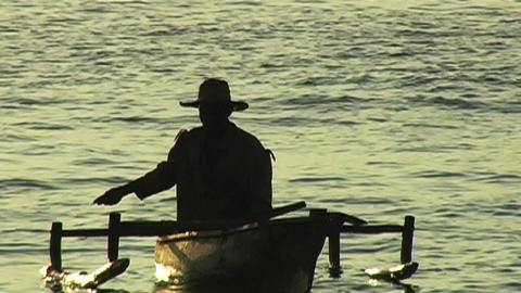 0892 African Sunrise Over the Indian Ocean with Fi Stock Video Footage