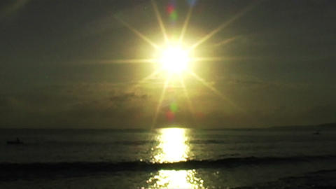 0897 African Sunrise Over the Indian Ocean with Fi Stock Video Footage