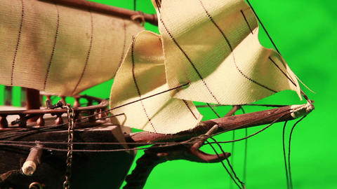 0971 Pirate Sailboat with Green Screen Footage