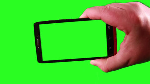 Using a Smart Phone with a Green-Screen Stock Video Footage