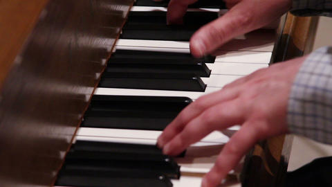 0700 Man Playing Piano Stock Video Footage