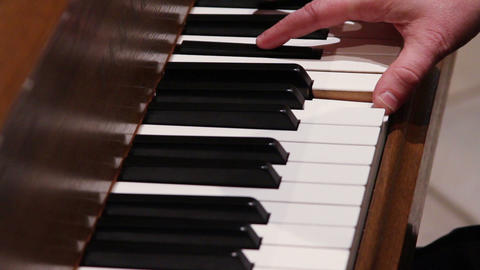 0700 Man Playing Piano stock footage