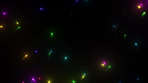 Glow particles B 1 C 4k CG動画