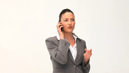 Attractive businesswoman phoning Footage