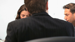Business team working in a meeting Footage