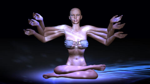 Animation of a meditating Female Animation