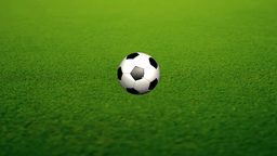 Animation Of A Soccer Ball stock footage