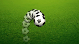 Animation of a Soccer Ball Stock Video Footage
