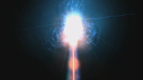 Animation of hot Laser Flashes Stock Video Footage
