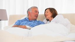Elderly couple watching tv Footage