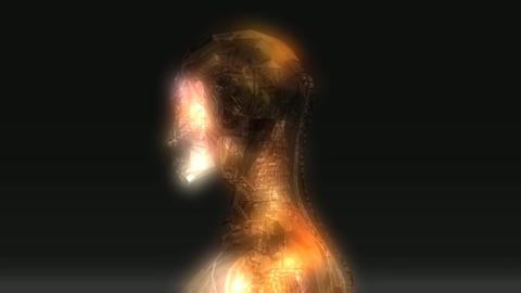 Animation of a female Robot Animation