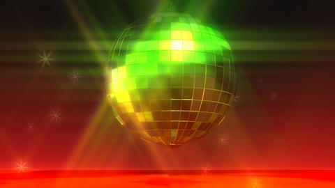 Animation Of A Disco Ball stock footage