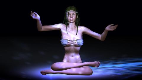 Animation of a meditating Female Animation
