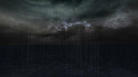 Animation Of Rain In The Dark stock footage