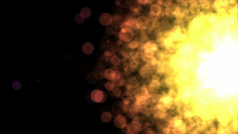 Colorful Particle Background - Loop Golden 4K Animation