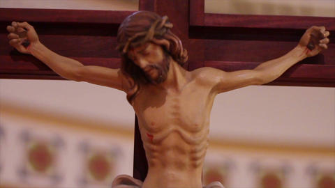 0688 Jesus on the Cross Footage