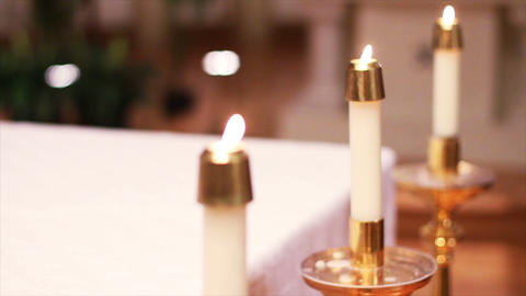 0691 Candles at Church Footage