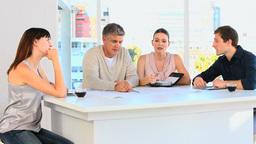 Employees planning something Footage