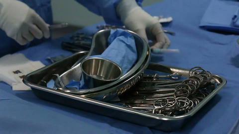 surgical tools in operation room Footage