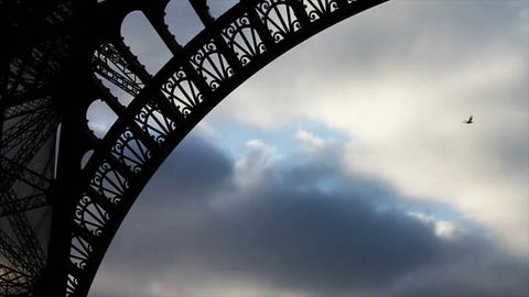 0772 Eiffel Tower Paris France Stock Video Footage