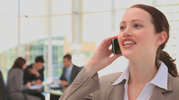 Business woman making a phone call Stock Video Footage