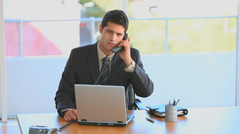 Businessman taking a phone call Stock Video Footage