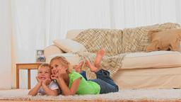 Cute children watching tv Footage