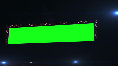 0793 Flashing Lights Movie Sign with Green Screen Stock Video Footage