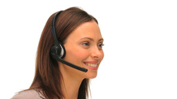 Business woman with an headset Footage