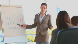 Business woman using a blackboard Footage