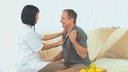 Nurse with a patient Stock Video Footage