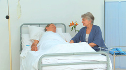 Couple receiving the visit of a nurse Stock Video Footage