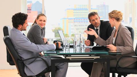 Meeting between business people Stock Video Footage
