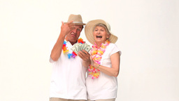 Couple showing off their money Stock Video Footage