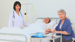 Nurse visiting her patient Stock Video Footage