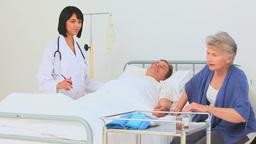Nurse visiting her patient Footage