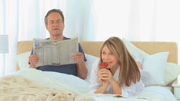 Aged couple during the morning Stock Video Footage
