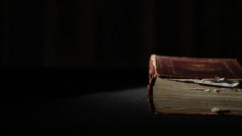 0358 Ancient Giant Book Stock Video Footage