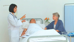 Nurse visiting a patient Stock Video Footage