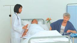 Nurse visiting a patient Footage