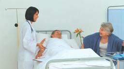 Nurse visiting a patient Stock Video Footage