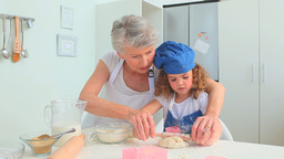 Adorable Child Learning To Cook stock footage