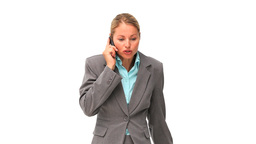 Casual business woman having a phone call Stock Video Footage