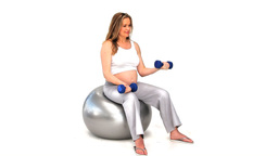 Expecting woman on a gym ball Stock Video Footage