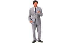 Elegant businessman talking on the phone Footage