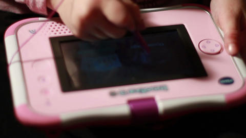 Child Playing on Tablet Device Stock Video Footage