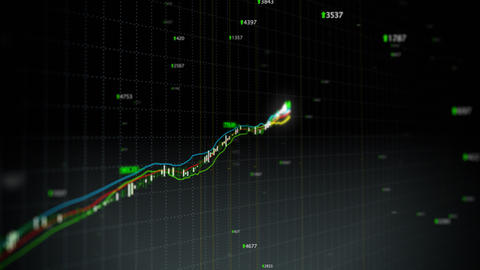 Growing stock index loop fronted Stock Video Footage
