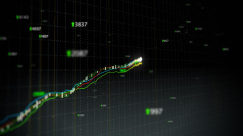 Growing stock index loop fronted Animation