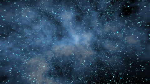 Flying through a star field in outer space. HD Stock Video Footage