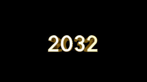 Year 2032 a HD Stock Video Footage